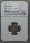 Bust Dimes: , 1833 10C -- Improperly Cleaned -- NGC Details. AU. NGC Census:(8/226). PCGS Population: (23/247). CDN: $360 Whsle. Bid for...