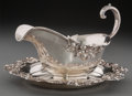 Silver Holloware, American:Sauce Boats, A Meriden Brittania Co. Silver Sauce Boat with Underplate, Meriden,Connecticut, early 20th century. Marks: (logotype), ST...(Total: 2 Items)