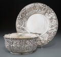 Silver & Vertu:Hollowware, A Two-Piece Tiffany & Co. Partial Gilt Silver Child's Set: Sing a Song of Sixpence, New York, New York, circa 19... (Total: 2 Items)
