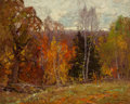 Fine Art - Painting, American:Modern  (1900 1949)  , Emile Albert Gruppe (American, 1896-1978). October Autumn.Oil on canvas. 16 x 20 inches (40.6 x 50.8 cm). Signed lower ...