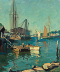 Fine Art - Painting, American:Modern  (1900 1949)  , Emile Albert Gruppe (American, 1896-1978). Blue Day, EastGloucester, 1949. Oil on canvas. 24 x 20 inches (61.0 x 50.8c...