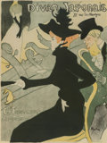 Fine Art - Work on Paper:Print, Henri de Toulouse-Lautrec (French, 1864-1901). DivanJaponais, 1893. Lithograph in colors. 31-1/2 x 23-7/8 inches(80.0 ...