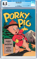 Golden Age (1938-1955):Cartoon Character, Four Color #48 Porky Pig (Dell, 1944) CGC VF+ 8.5 White pages....