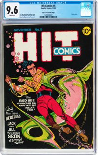 Hit Comics #5 Mile High Pedigree (Quality, 1940) CGC NM+ 9.6 White pages