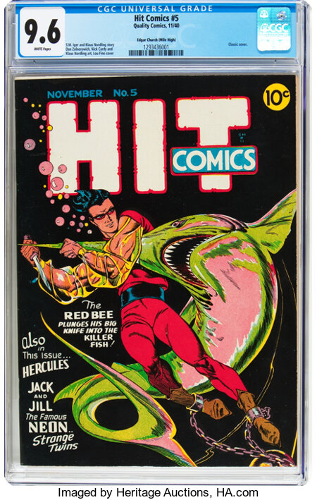 Hit Comics #5 Mile High Pedigree (Quality, 1940) CGC NM+ 9.6 White pages....