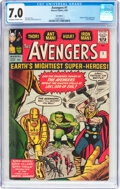 Silver Age (1956-1969):Superhero, The Avengers #1 UK Edition (Marvel, 1963) CGC FN/VF 7.0 Off-white to white pages....