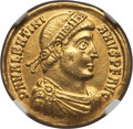 Ancients:Roman Imperial, Ancients: Valentinian I (AD 364-375). AV solidus (4.36 gm). NGC AU5/5 - 2/5, edge filed....