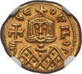 Ancients:Byzantine, Ancients: Theophilus (AD 829-842). AV solidus (3.92 gm). NGC MS 5/5- 4/5, overstruck....