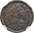 Chile, Chile: Ferdinand VII 1/2 Real 1817 So-FI AU Details (Environmental Damage) NGC,...