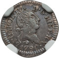 Chile, Chile: Charles IV 1/4 Real 1790-So MS62 NGC,...