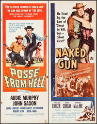 """Posse from Hell & Others Lot (Universal International, 1961). Inserts (5) (14"""" X 36""""). Western. ... (T..."""