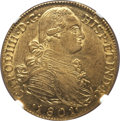 Colombia, Colombia: Charles IV gold 8 Escudos 1801 NR-JJ AU58 NGC,...