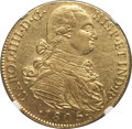 Colombia, Colombia: Charles IV gold 8 Escudos 1805 NR-JJ AU58 NGC,...