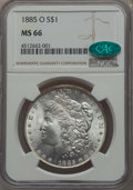 1885-O $1 MS66 NGC. CAC. NGC Census: (4486/558). PCGS Population: (2565/296). CDN: $255 Whsle. Bid for problem-free NGC/...