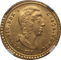 Italy:Sicily, Italy: Sicily. Charles III (VI of Austria) gold Oncia 1734 AU58 NGC,...