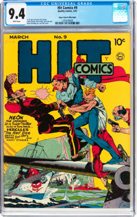 Hit Comics #9 Mile High Pedigree (Quality, 1941) CGC NM 9.4 White pages