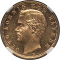 German States:Bavaria, German States: Bavaria. Otto gold 10 Mark 1896-D MS63 NGC,...