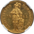 German States:Hamburg, German States: Hamburg. Free City gold Ducat 1865 MS61 NGC,...