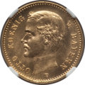 German States:Bavaria, German States: Bavaria. Otto gold 10 Mark 1905-D MS64 NGC,...