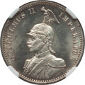 German East Africa, German East Africa: German Colony - Wilhelm II 1/2 Rupie 1897 MS63NGC,...