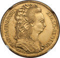 Brazil, Brazil: Maria I gold 6400 Reis 1789-R AU Details (SurfaceHairlines) NGC,...