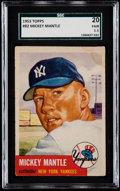 Baseball Cards:Singles (1950-1959), 1953 Topps Mickey Mantle #82 SGC 20 Fair 1.5....