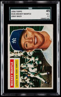 Baseball Cards:Singles (1950-1959), 1956 Topps Mickey Mantle (Gray Back) #135 SGC 45 VG+ 3.5....