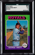 Baseball Cards:Singles (1970-Now), 1975 Topps George Brett #228 SGC 84 NM 7....