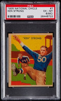 Football Cards:Singles (Pre-1950), 1935 National Chicle Ken Strong #7 PSA EX-MT 6 (MC)....