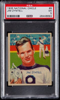 Football Cards:Singles (Pre-1950), 1935 National Chicle Jim Zyntell #8 PSA EX 5....