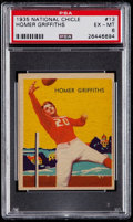 Football Cards:Singles (Pre-1950), 1935 National Chicle Homer Griffiths #13 PSA EX-MT 6....