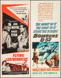 """Flying Leathernecks & Others Lot (RKO, R-1956). Inserts (4) (14"""" X 36""""). War. ... (Total: 4 Items)"""