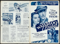 "Waterloo Bridge (MGM, 1940). Uncut British Pressbook (8 Pages, 10"" X 14.5""). Romance"