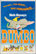 """Movie Posters:Animation, Dumbo & Other Lot (Buena Vista, R-1976). One Sheets (2) (27"""" X41""""). Animation.. ... (Total: 2 Items)"""
