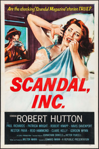 """Scandal, Inc. & Other Lot (Republic, 1956). Folded, Fine/Very Fine. One Sheets (3) (27"""" X 41""""). Crime..."""