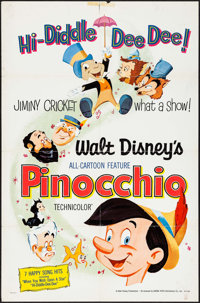 """Pinocchio (Buena Vista, R-1971/R-1978). One Sheets (2) (27"""" X 41""""). Animation. ... (Total: 2 Items)"""