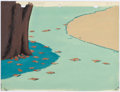 Animation Art:Painted cel background, Flying South Painted Production Background Group of 2(Terrytoons, 1947).... (Total: 2 Original Art)
