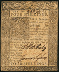 Colonial Notes:Delaware, Delaware January 1, 1776 4s Very Fine-Extremely Fine.. ...