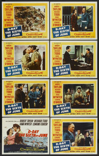 """D-Day The Sixth of June (20th Century Fox, 1956). Lobby Card Set of 8 (11"""" X 14""""). War. ... (Total: 8 Items)"""