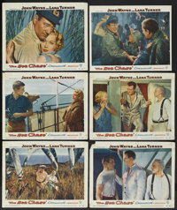 "The Sea Chase (Warner Brothers, 1955). Lobby Cards (6) (11"" X 14""). War. ... (Total: 6 Items)"