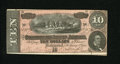 Confederate Notes:1864 Issues, T68 $10 1864. Light handling is found on this 9 Series $10. About Uncirculated....