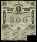 Confederate Notes:Group Lots, Ball 192 Criswell 124 $500 1863 Bond Very Fine. Here is a cleanexample of this bond that carries the signature of Rober Tyl...