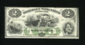 Obsoletes By State:Maryland, Salisbury, MD- Somerset and Worcester Savings Bank $2 Nov. 1, 1862. This is a beautiful green and black signed and dated re...
