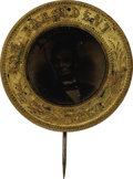 Political:Ferrotypes / Photo Badges (pre-1896), Abraham Lincoln: Pinback Ferrotype 1864....