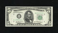 Small Size:Federal Reserve Notes, Fr. 1963-B* $5 1950B Federal Reserve Note. Very Choice New.. A little more margin at the top is all that is required to sati...