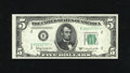 Small Size:Federal Reserve Notes, Fr. 1965-B* $5 1950D Federal Reserve Note. Gem New.. Hulking margins and robust embossing are found on this pristine New Yor...