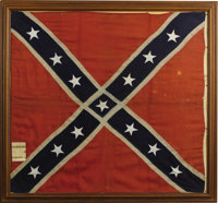 CONFEDERATE BATTLE FLAG CAPTURED AT MACON, GEORGIA ARSENAL APRIL 2, 1865