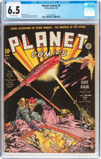 Planet Comics #3 (Fiction House, 1940) CGC FN+ 6.5 Off-white pages
