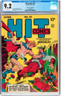 Golden Age (1938-1955):Superhero, Hit Comics #12 Mile High Pedigree (Quality, 1941) CGC NM- 9.2 White pages....