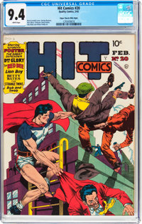 Hit Comics #20 Mile High Pedigree (Quality, 1942) CGC NM 9.4 White pages